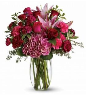 ortancalı lilyum ve güller