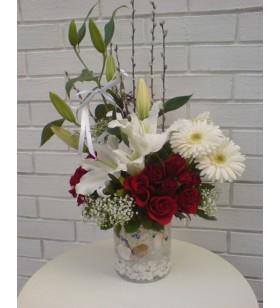 lilyum ve güllerle arajman