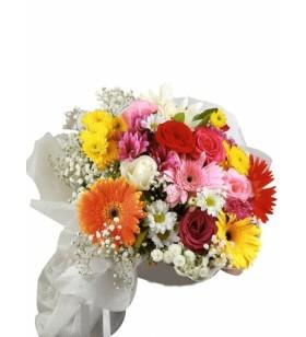 karışık çiçekler